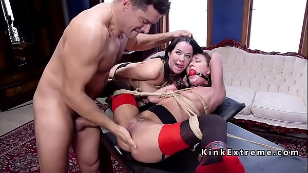 Anal threesome, Threesome busty, Busty anal