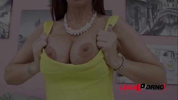 Double anal, Busty anal