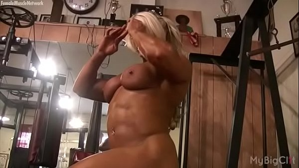 Bodybuilder, Female masturbating, Bodybuilding
