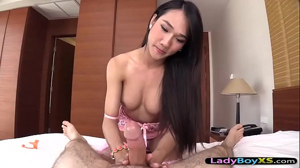 Asian ladyboy, Asian handjob
